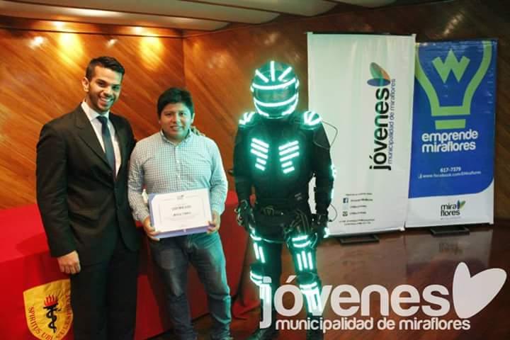 Premiación por parte de la Municipalidad de Miraflores en Emprendimiento e Innovación