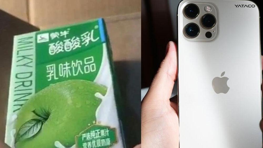 Compró un iPhone 12 Pro Max y recibió un yogur a cambio