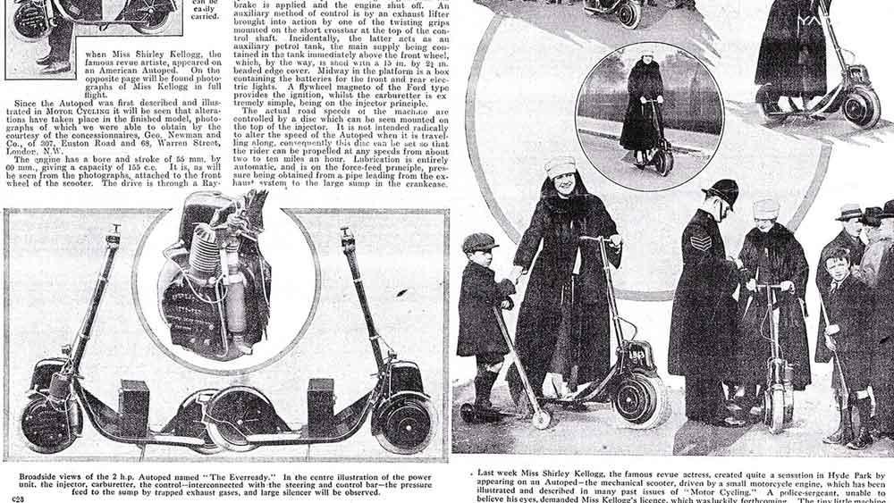 Autoped desde 1915 nos enseño el futuro de los scooters eléctricos