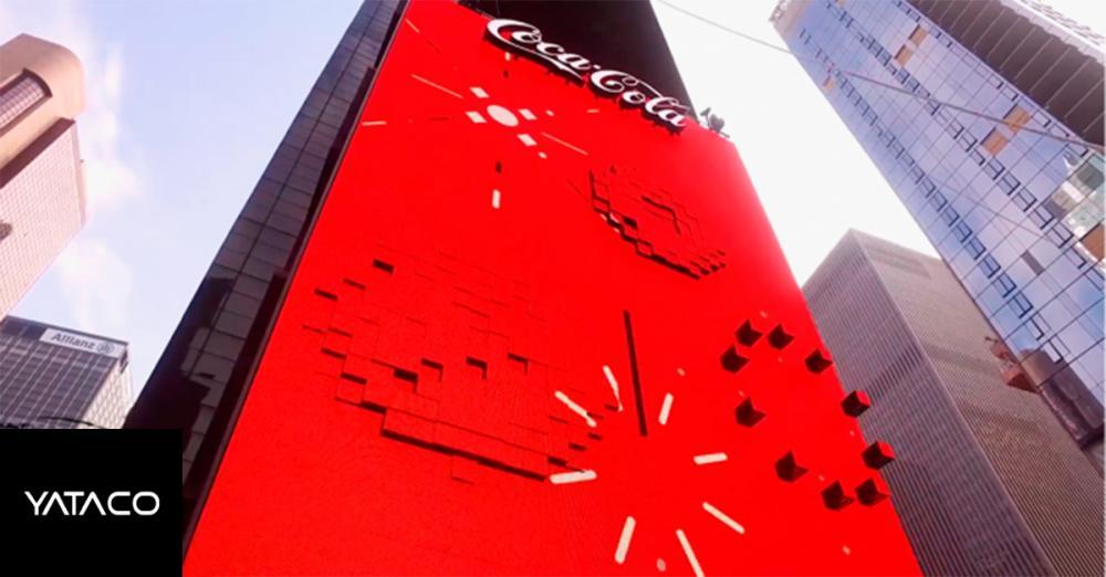 Coca Cola lo hizo otra vez! Primer panel 3D en el mundo