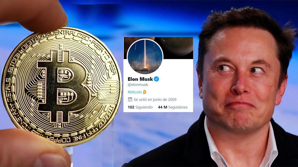Bitcoin se vuelve a disparar, Elon Musk cambia su 'bio' de Twitter para poner