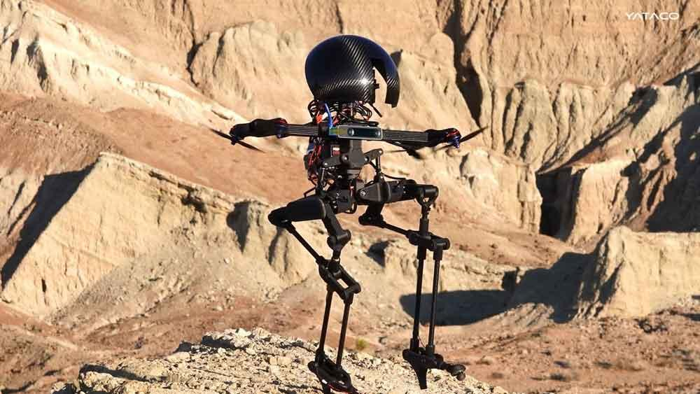 Leonardo el robot-drone puede caminar y volar