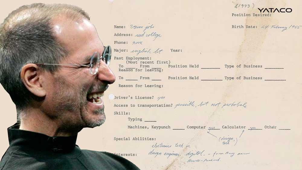 Steve Jobs hizo una solicitud de empleo escrita a mano y va a subastarse por mucho dinero